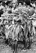 Native men at tribal gathering in Fiji, South Pacific
