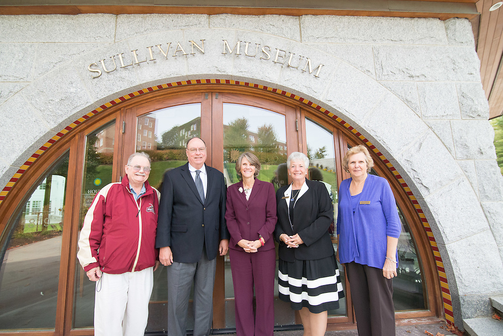 Friends of the Sullivan Museum gather to meet during the 2015 fall Homecoming Celebration.