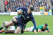 Blair Kingorn on the ball during the 6 Nations match between Scotland and Ireland at Murrayfield, Edinburgh, Scotland on 9 February 2019.