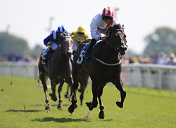Invincible Army ridden by P.J.McDonald wins the Duke Of York Clipper Logistics Stakes during day one of the Dante Festival at York Racecourse.