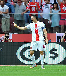 13.06.2015, Nationalstadion, Warschau, POL, UEFA Euro 2016 Qualifikation, Polen vs Greorgien, Gruppe D, im Bild ROBERT LEWANDOWSKI GOL, RADOSC BRAMKA NA 3-0 // during the UEFA EURO 2016 qualifier group D match between Poland and Greorgia at the Nationalstadion in Warschau, Poland on 2015/06/13. EXPA Pictures © 2015, PhotoCredit: EXPA/ Pixsell/ RAFAL RUSEK<br /> <br /> *****ATTENTION - for AUT, SLO, SUI, SWE, ITA, FRA only*****