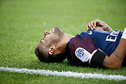 Neymar da Silva Santos Junior - Neymar Jr (PSG) on the floor during the French championship L1 football match between Paris Saint-Germain (PSG) and Toulouse Football Club, on August 20, 2017, at Parc des Princes, in Paris, France - Photo Stephane Allaman / ProSportsImages / DPPI