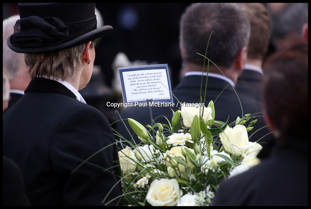 David Black Funeral. The funeral of murdered prison officer David Black, Cookstown, County Tyrone, Northern Ireland, November 6, 2012. Photo by Paul McErlane / i-Images.