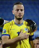 PODGORICA, MONTENEGRO - JUNE 07: Amir Rrahmani of Kosovo before the 2020 UEFA European Championships group A qualifying match between Montenegro and Kosovo at Podgorica City Stadium on June 7, 2019 in Podgorica, Montenegro MB Media