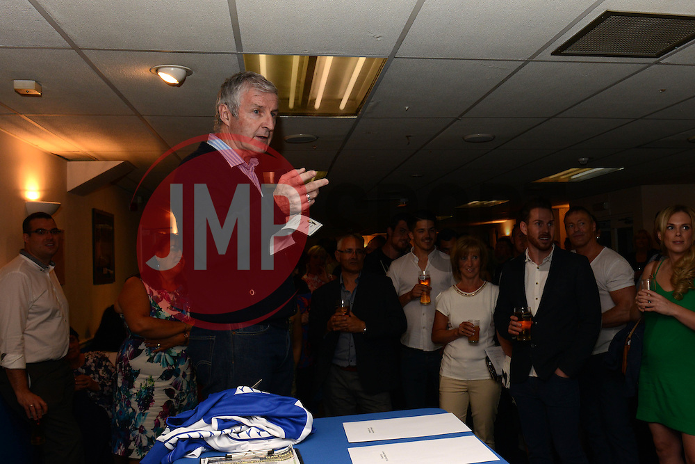 Geoff Twentyman presents an auction - Mandatory byline: Dougie Allward/JMP - 07966386802 - 31/07/2015 - FOOTBALL - Memorial Stadium -Bristol,England - Bristol Rovers v West Brom - Phil Kite Testimonial Match