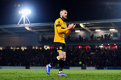 Dan Butler of Newport County after the final whistle of the match - Mandatory by-line: Ryan Hiscott/JMP - 16/02/2019 - FOOTBALL - Rodney Parade - Newport, Wales - Newport County v Manchester City - Emirates FA Cup fifth round proper
