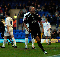 Photo: Jed Wee.<br />Tranmere Rovers v Swansea City. Coca Cola League 1.<br />26/11/2005.<br />Swansea's Lee Trundle celebrates their first goal.