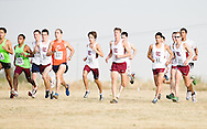 September 10, 2011: The Oklahoma Christian University Eagles men's cross country team participates in the UCO Land Run at Mitch Park in Edmond, OK.