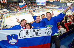 Fans of Slovenia during Ice Hockey match between Slovenia and Denmark at Day 11 in Group B of 2015 IIHF World Championship, on May 11, 2015 in CEZ Arena, Ostrava, Czech Republic. Photo by Vid Ponikvar / Sportida