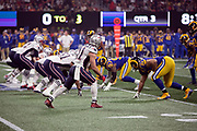 New England Patriots wide receiver Julian Edelman (11) gets set to go out for a pass against the Los Angeles Rams during the NFL Super Bowl 53 football game on Sunday, Feb. 3, 2019, in Atlanta. The Patriots defeated the Rams 13-3. (©Paul Anthony Spinelli)