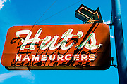 An old store sign on on a street of Austin, Texas
