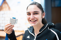 Mia Krampl during PZS press conference after IFSC Climbing World Championships in Hachioji (JPN) 2019, on August 23, 2019 at Ministry of Education, Science and Sport, Ljubljana, Slovenia. Photo by Grega Valancic / Sportida