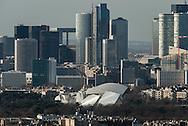 France. paris. 7th district.  The Palais de Chaillot , the Seine river and Paris cityscape / Paris vue d'en haut, le palais de Chaillot