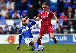 Joe Bryan of Bristol City is tackled by David McGoldrick of Ipswich Town - Mandatory by-line: Robbie Stephenson/JMP - 30/09/2017 - FOOTBALL - Portman Road - Ipswich, England - Ipswich Town v Bristol City - Sky Bet Championship