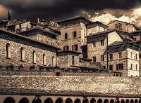 &ldquo;Rising above the Basilica Piazza San Francesco &ndash; Assisi - BW&rdquo;&hellip;<br />