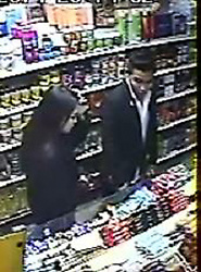 © Licensed to London News Pictures . 13/10/2014 . Manchester , UK . CCTV STILL RELEASED BY GREATER MANCHESTER POLICE OF A WOMAN AND A MAN POLICE WANT TO SPEAK TO IN RELATION TO JORDAN'S DEATH . Police in Manchester have launched a murder investigation after a 17 year old boy was found dead in his bed by his mother . Jordan Brennan died following an assault outside a shop near his home in Gorton , Manchester . His mother found him unresponsive in his bed 14 hours after the attack and paramedics pronounced him dead at the scene . The attack took place outside a local grocer's shop . Police want to speak to a man and a woman , both aged 25-30 years old and of Chinese appearance , who were recorded on CCTV in the shop at the time . Photo credit : LNP