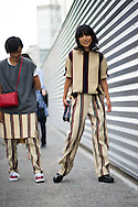 Two Girls in Dries van Noten, Outside the Show