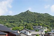 Kurotakiyama (Kurotaki Mountain) overlooks Tadanoumi town.