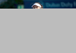 February 21, 2019 - Dubai, ARAB EMIRATES - Su-Wei Hsieh of Chinese Taipeh in action during her quarter-final match at the 2019 Dubai Duty Free Tennis Championships WTA Premier 5 tennis tournament (Credit Image: © AFP7 via ZUMA Wire)