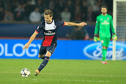 12.03.2014, Parc des Princes, Paris, FRA, UEFA CL, Paris Saint Germain vs Bayer 04 Leverkusen, Achtelfinale, Rueckspiel, im Bild Yohan Cabaye (FC Paris Saint-Germain #4), Aktion, Action // during the UEFA Champions League Round of 16, 2nd Leg match between Paris Saint Germain and Bayer 04 Leverkusen at the Parc des Princes in Paris, France on 2014/03/12. EXPA Pictures © 2014, PhotoCredit: EXPA/ Eibner-Pressefoto/ Schueler<br /> <br /> *****ATTENTION - OUT of GER*****