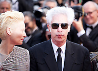 Actress Tilda Swinton and Director Jim Jarmusch at the Opening Ceremony and The Dead Don't Die gala screening at the 72nd Cannes Film Festival Tuesday 14th May 2019, Cannes, France. Photo credit: Doreen Kennedy