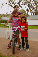 Northern Cheyenne Indian Reservation, Lame Deer, Montana, kids play