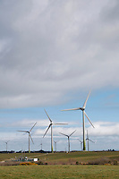 Alternative energy wind farm in County Wexford Ireland