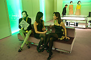 MARGARET LIM; CATHERINE JACKSON, Prada presents a book documenting the company's diverse projects in fashion, architecture, film and art. Prada Shop. 16/18 Old Bond St. London W1. *** Local Caption *** -DO NOT ARCHIVE-© Copyright Photograph by Dafydd Jones. 248 Clapham Rd. London SW9 0PZ. Tel 0207 820 0771. www.dafjones.com.<br /> MARGARET LIM; CATHERINE JACKSON, Prada presents a book documenting the company's diverse projects in fashion, architecture, film and art. Prada Shop. 16/18 Old Bond St. London W1.