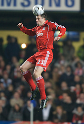 LONDON, ENGLAND - Wednesday, December 19, 2007: Liverpool's Jamie Carragher in action against Chelsea during the League Cup Quarter Final match at Stamford Bridge. (Photo by David Rawcliffe/Propaganda)