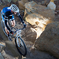 Photo by Todd McClintic/USA Cycling<br /> A riders weaves through rocks during the USA Cycling 24-Hour Mountain Bike National Championships in Colorado Springs last year. The event will be held this year in McGaffey.