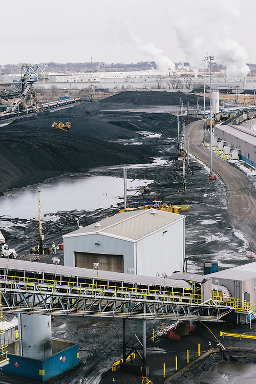 Consol Energy's Baltimore Terminal on March 6, 2014. The terminal has 30 acres of storage for coal and employs 77 people.