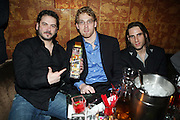 l to r: Ron Tenenbaum, Andrew Zaleski, and Brandon Wolfson at The Vibe Magazine Presents Vsessions Live! Hosted by the Fabulous Toccara featuring Hal Linton, Suai and Ron Browz held at Joe's Pub on February 25, 2009 in NYC