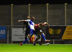 Kenan Dunwald battles with Aaron Parsons of Bristol City - Mandatory by-line: Paul Knight/JMP - 16/11/2017 - FOOTBALL - Woodspring Stadium - Weston-super-Mare, England - Bristol City U23 v Bristol Rovers U23 - Central League Cup
