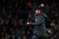 Football - 2019 / 2020 Premier League - Liverpool vs. Manchester City<br /> <br /> Liverpool Manager Jurgen Klopp celebrates at full time, at Anfield.<br /> <br /> COLORSPORT/PAUL GREENWOOD