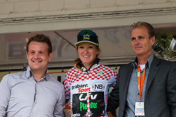 Podium with Amy Pieters of Team Liv-Plantur after the finish at the Holland Ladies Tour, 's-Heerenberg, Gelderland, The Netherlands, 1 September 2015.<br /> Photo: Pim Nijland / PelotonPhotos.com