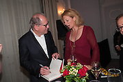 WILLIAM BOYD; SAMANTHA WEINBERG, The launch of 'Solo', the new James Bond novel written by William Boyd,  The Dorchester , PARK LANE, LONDON. 25 SEPTEMBER 2013.