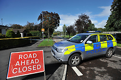 Royal Navy bomb disposal experts carried out a controlled explosion on a suspicious item found at the Forth &amp; Clyde canal, near the Leisuredrome Leisure Centre in Bishopbriggs in East Dumbartonshire. The leisure  centre had to be evacuated and roads around the canal were closed for several hours.<br /> <br /> &copy; Dave Johnston / EEm