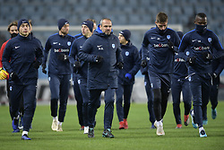 November 28, 2018 - Malmo, SWEDEN - Genk's Ruslan Malinovski, Genk's assistant coach Domenico Olivieri and Genk's Aly Mbwana Samatta pictured during the training session of Belgian soccer team KRC Genk in Malmo, Sweden, Wednesday 28 November 2018. Genk will meet Swedish club Malmo on the fifth day of the UEFA Europa League group stage, in group I. BELGA PHOTO YORICK JANSENS (Credit Image: © Yorick Jansens/Belga via ZUMA Press)