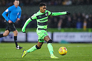 Forest Green Rovers Reece Brown(10) on the ball during the EFL Sky Bet League 2 match between Forest Green Rovers and Mansfield Town at the New Lawn, Forest Green, United Kingdom on 15 December 2018.