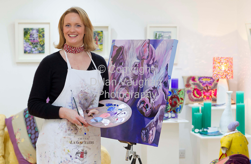 12/1/2012.Gillian Dwyer pictured at Anchor Art and Design in Ardmore Co Waterford..Picture Dylan Vaughan...