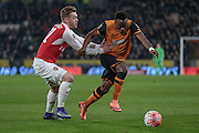 Moses Odubajo (Hull City) during the The FA Cup fifth round match between Hull City and Arsenal at the KC Stadium, Kingston upon Hull, England on 8 March 2016. Photo by Mark P Doherty.