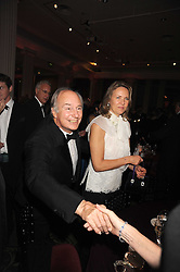 HRH The AGA KHAN and CARLA BAMBERGER at the annual Cartier Racing Awards held at the Grosvenor House Hotel, Park Lane, London on 17th November 2008.
