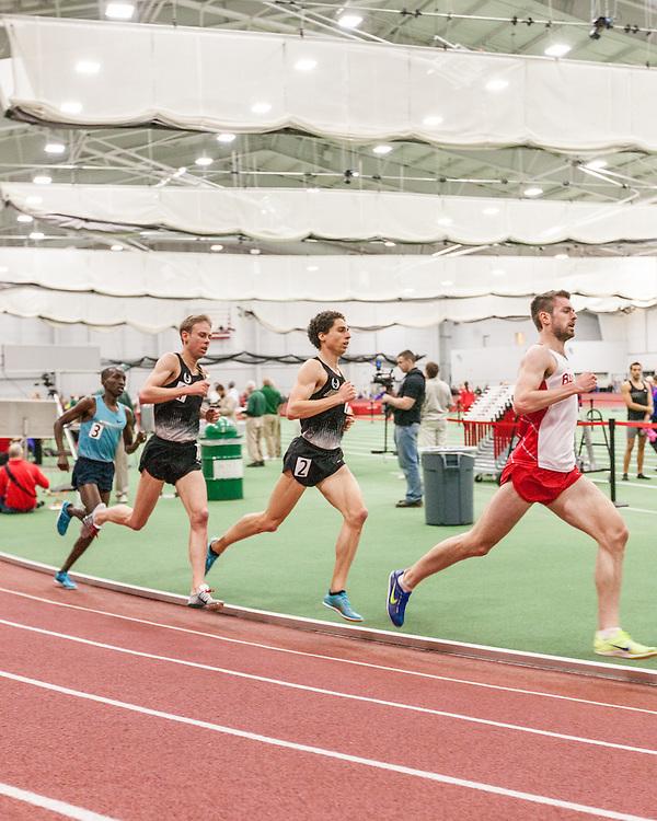 Boston University Multi-team indoor track & field meet, Peters leads Levins, Rupp 5000m