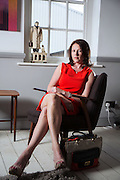 Portraits of Emma Flannery at her offices in Shoreditch on Friday May  9 2014.<br /> <br /> Emma is the CEO of Whats in My Handbag.com.