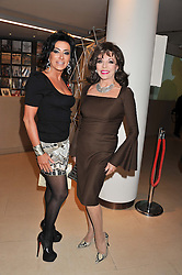 Left to right, NANCY DELL'OLIO and JOAN COLLINS at the Lighthouse Gala Auction in aid of The Terrence Higgins Trust held at Christie's, 8 King Street, St.James' London on 19th March 2012.