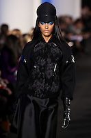 Jourdan Dunn walks down runway for F2012 Prabal Gurung's collection in Mercedes Benz fashion week in New York on Feb 10, 2012 NYC