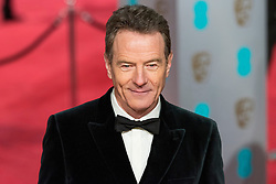 © Licensed to London News Pictures. 14/02/2016. London, UK. BRYAN CRANSTON arrives on the red carpet at the EE British Academy Film Awards 2016 Photo credit: Ray Tang/LNP