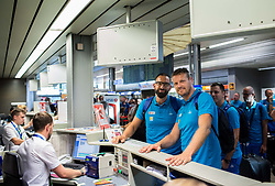 Peter Rankovic and Miha Zupan of Slovenian deaf team before departure to 23rd Summer Deaflympics in Samsun, Turkey, on July 14, 2017 at Airport Joze Pucnik, Brnik, Slovenia. Photo by Vid Ponikvar / Sportida