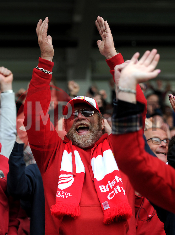 Bristol City fans celebrate as Jonathan Kodjia's goal - Mandatory by-line: Paul Knight/JMP - Mobile: 07966 386802 - 03/10/2015 -  FOOTBALL - Ashton Gate Stadium - Bristol, England -  Bristol City v MK Dons - Sky Bet Championship