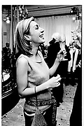 Sahar Hashemi. Krug party. Mandarin Oriental Hotel. May 1999. © Copyright Photograph by Dafydd Jones 66 Stockwell Park Rd. London SW9 0DA Tel 020 7733 0108 www.dafjones.com